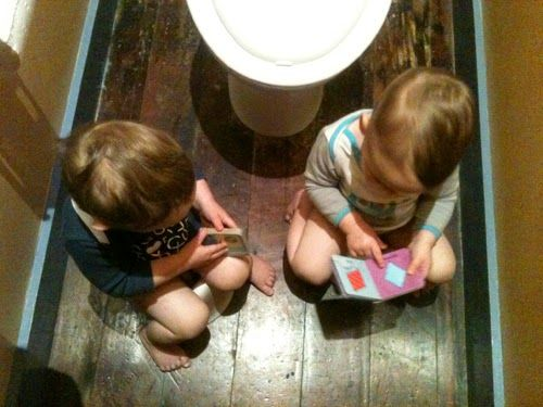 Life with twins. Starting to potty train.. Yikes!! #twins