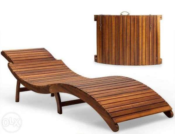 Деревянный шезлонг, раскладной лежак из дерева Львов - изображение 1