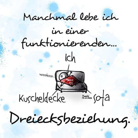 Ich, Kuscheldecke, Sofa ...