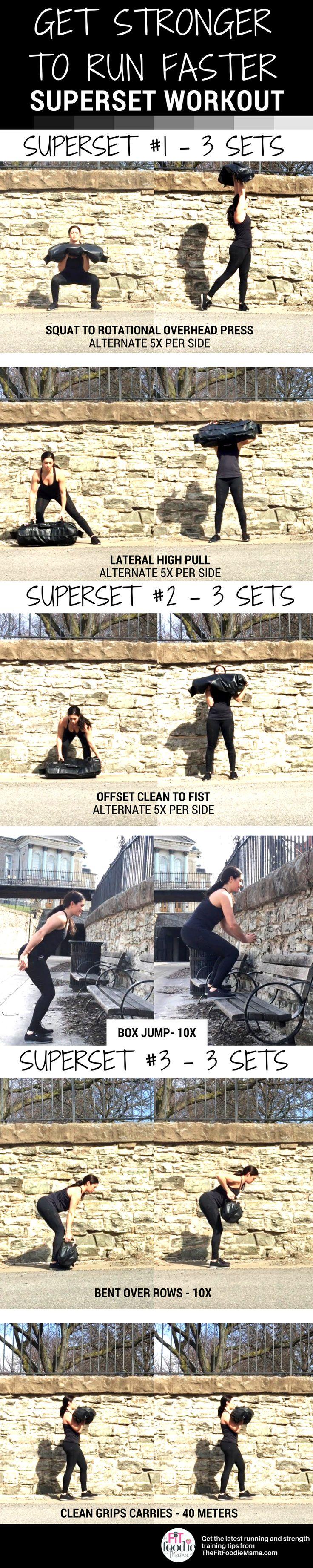 Get Stronger to Run Faster Ultimate Sandbag Workout