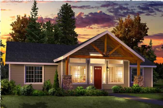 Timber Frame Porch Included On Some Plans Or Customize Your Home By Adding  One!