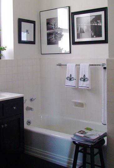 116 Best Black U0026 White Bathrooms Images On Pinterest | Room, Bathroom Ideas  And Bathroom Remodeling
