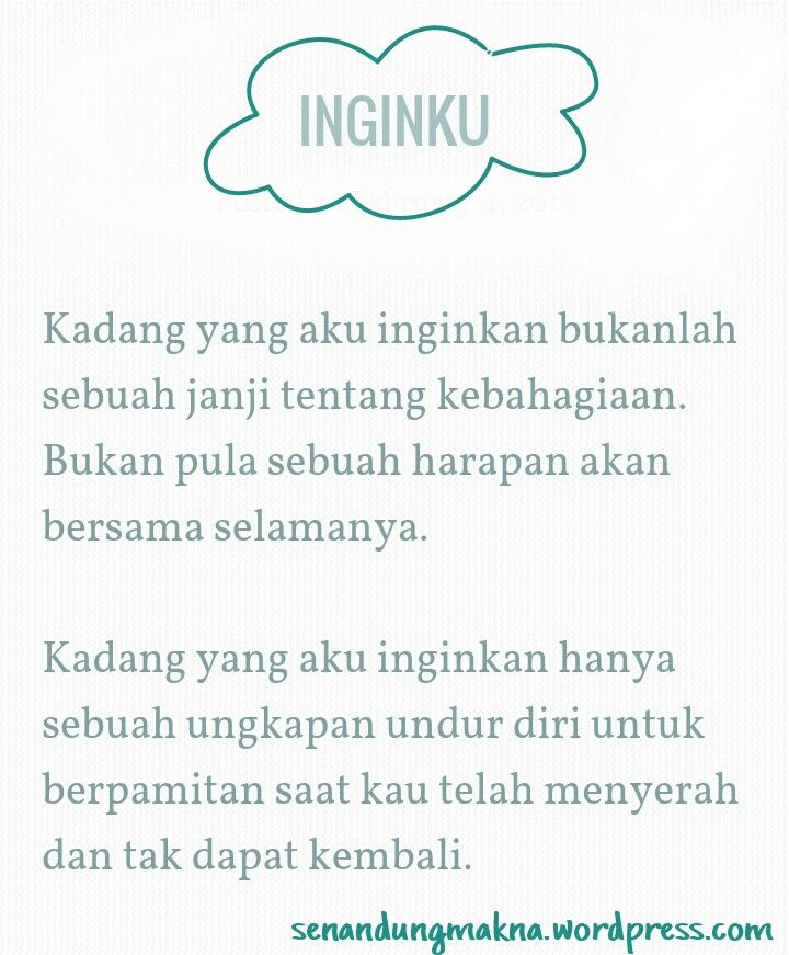 Inginku  #quotes #puisi #Indonesia