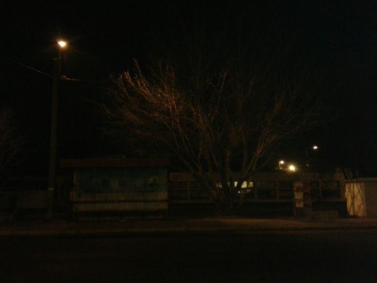 bus stop.