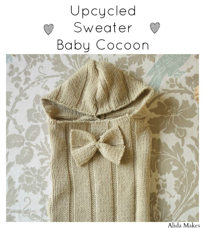 Upcycled Sweater Baby Cocoon