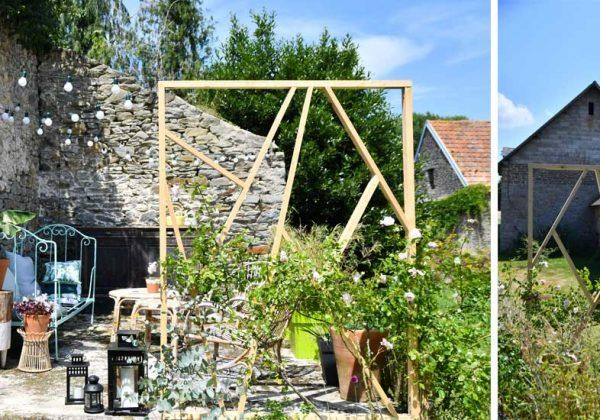 Tuto Realisez Un Claustra Design En Bois Dans Votre Jardin Claustra Claustra Exterieur Meuble Jardin Palette
