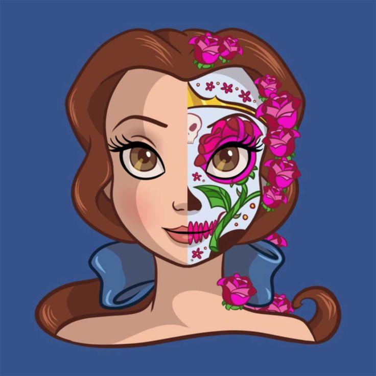 Princesas Disney como caveiras mexicanas
