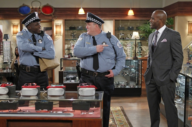 "LaMonica Garrett, Billy Gardell and Reno Wilson in Mike & Molly from ""Mike Likes..."