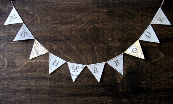 Bigger Personalized Teacher Name Banner-love this idea to string across my windows