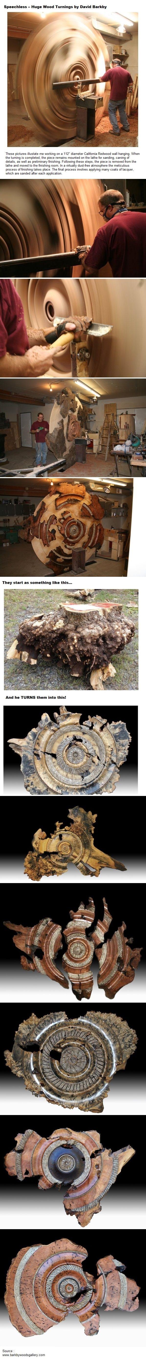 Speechless ..Huge Wood Turnings by David Barkby