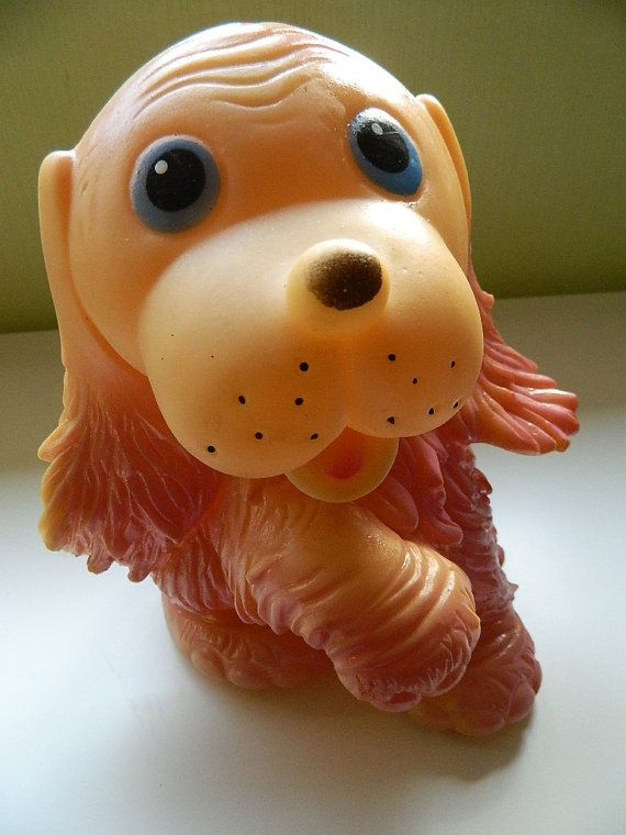 Big Lovely Vintage Rubber Dog from USSR Soviet Toy by RETROisIN