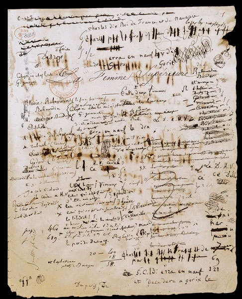 Manuscrit Balzac