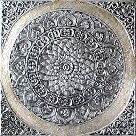 ESTUDIO DELIER | Cuadro triptico mandalas roco