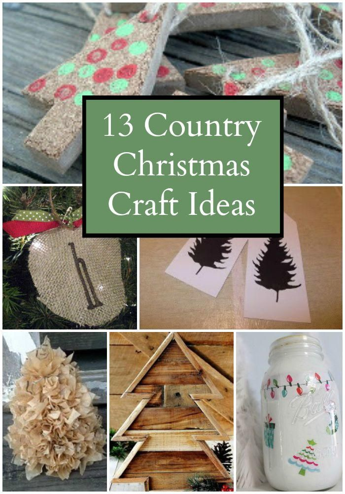 13 country christmas craft ideas crafts burlap for Christmas decoration craft ideas