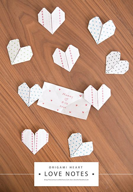 Origami Heart Love Notes ~ So sweet for Valentine's Day!  www.orsoshesays.com