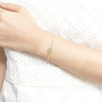 Hamsa Hand bracelet to ward off the evil eye -- light, casual and dainty