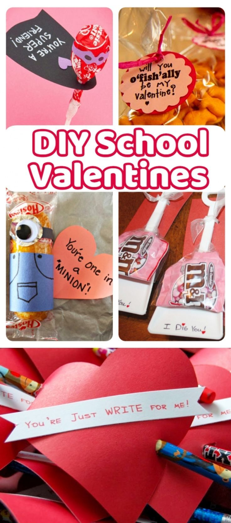 Valentines Day - DIY handmade Valentines Cards for kids to give at school.