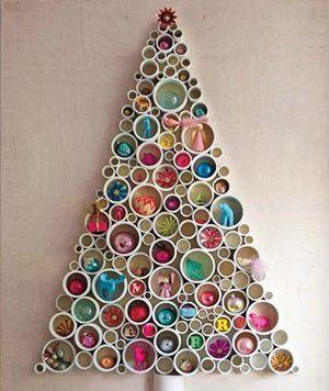 DIY wall Christmas trees
