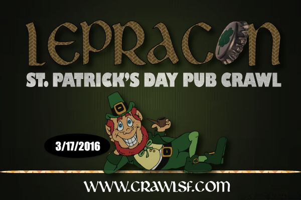 Over 2000 people took over Polk Street last year for the biggest St. Patrick's Day Pub Crawl in San Francisco. This year's event will be even bigger and better with some special surpris…