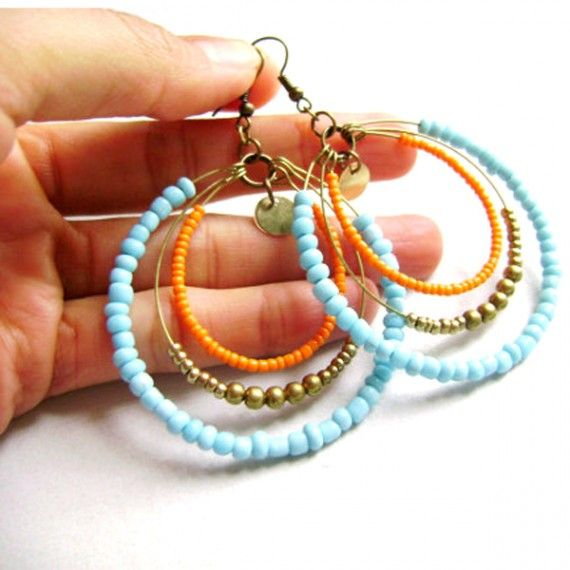 Colorful Hoop Earrings.