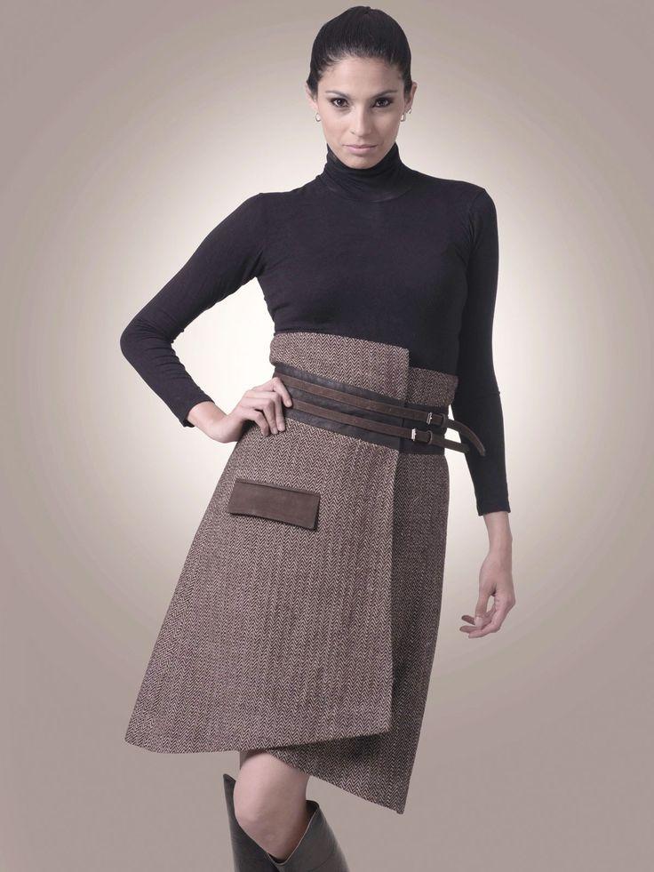 Lana gruesa y cuero de llama - Rough wool and llama's leather