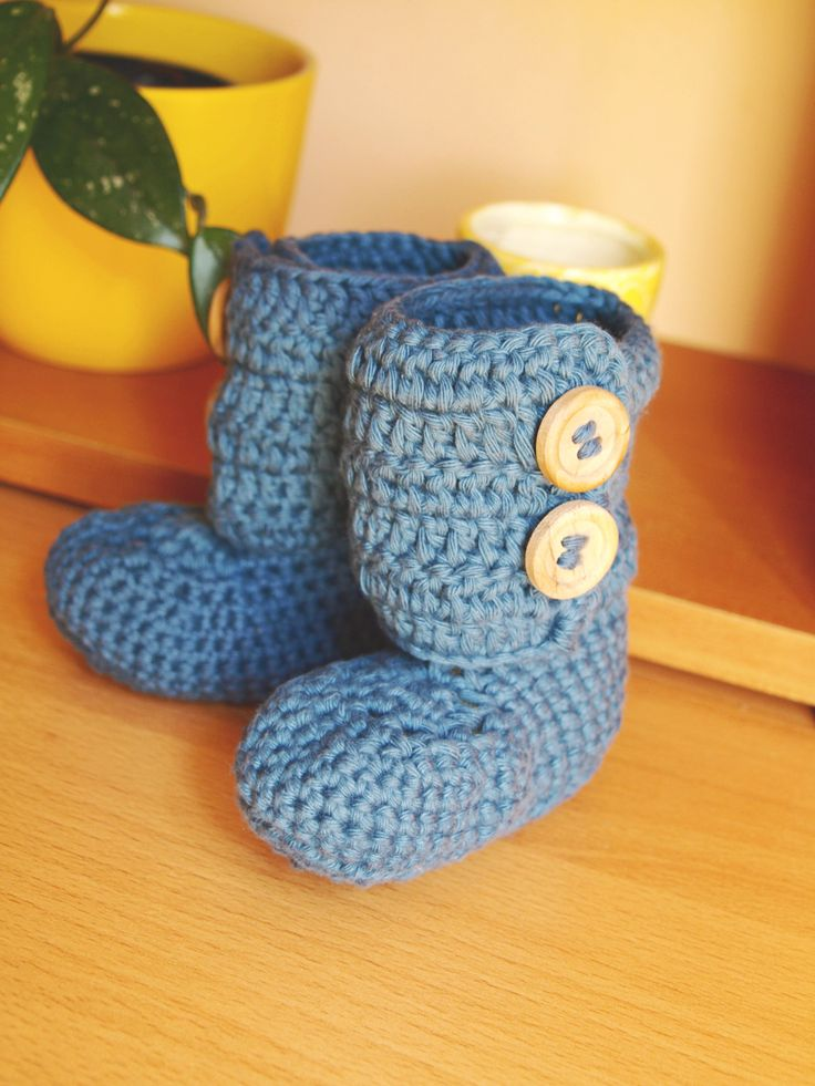Baby ankle boots  (Pattern by Mon Petit Violon)