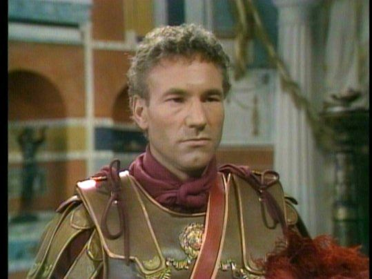 Patrick Stewart w/ hair. Sejanus from I, Claudius! I don't even know how to react to this!