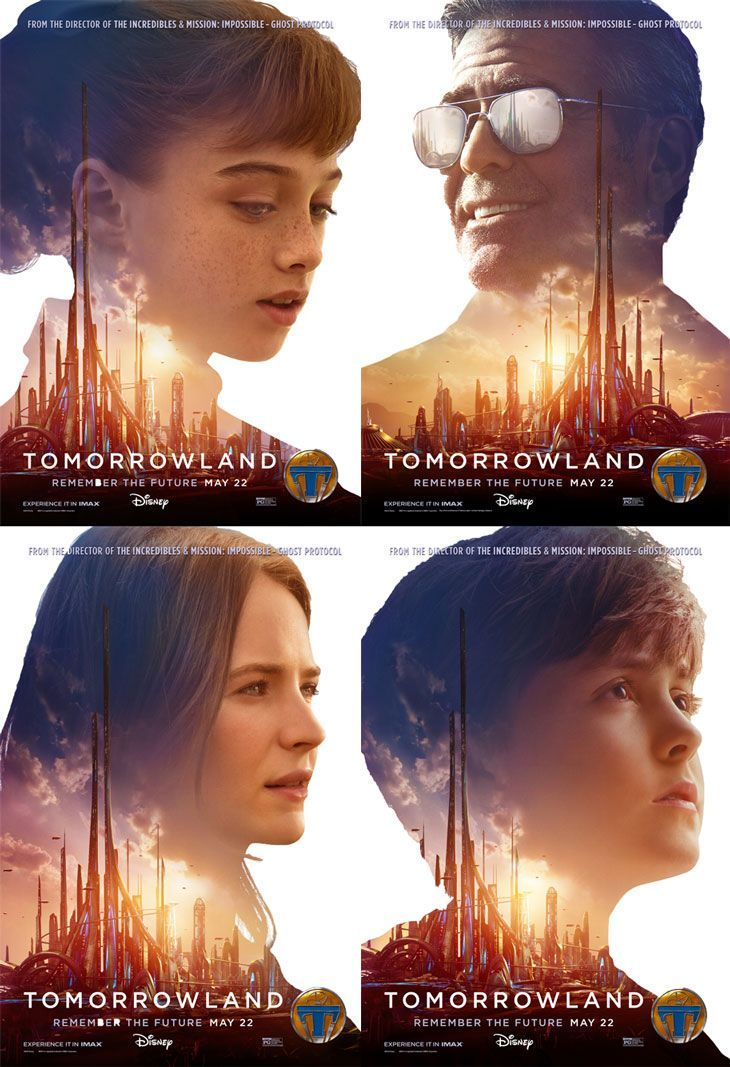 TOMORROWLAND (USA, 2015) | Genre: Action, Adventure, Family | 130 min | Plot: Bound by a shared destiny, a teen bursting with scientific curiosity and a former boy-genius inventor embark on a mission to unearth the secrets of a place somewhere in time and space that exists in their collective memory. | SOURCES: http://moviejunkienews.com/posts/fantasy/disneys-tomorrowland-comes-up-with-four-new-character-posters → #Tomorrowland #AWorldBeyond #MoviePoster