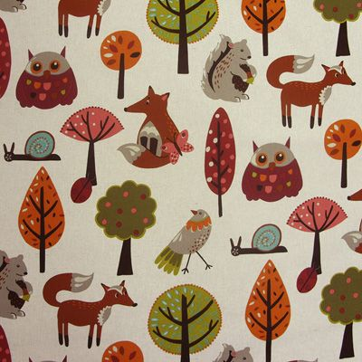 This is the most beautiful fabric.  It has large sized animals.  Very vibrant.  Perfect for a nursery.   Purchased print online, or can go to store in TO.    Bosque 33-L HP Culla, designer fabric online.  store located in TO but can order online.