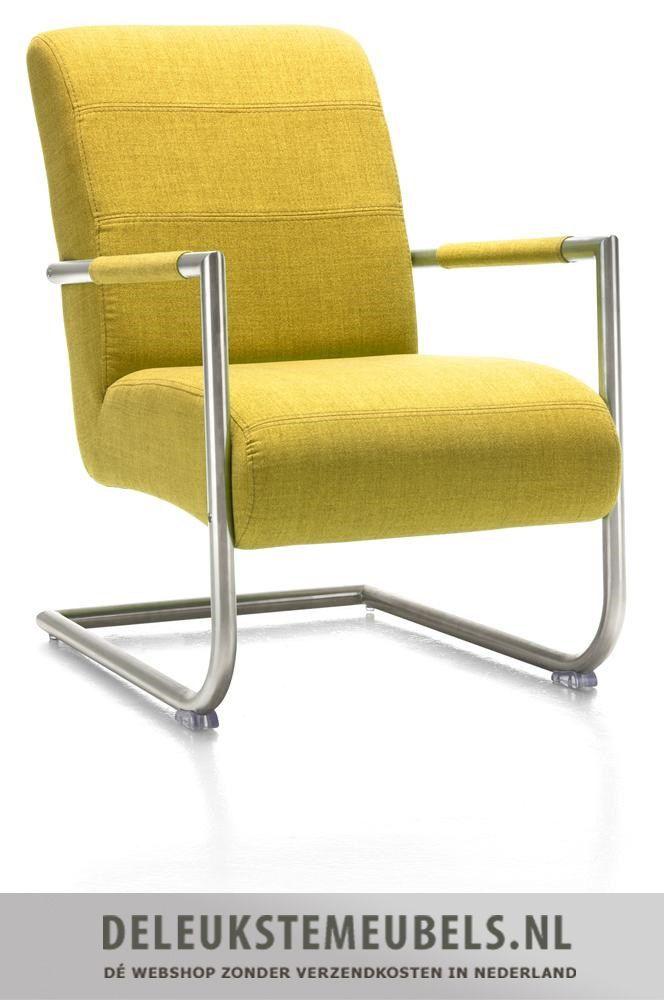 Deze mooie Angelica fauteuil van Henders & Hazel zit bijzonder goed! Hij is uitgevoerd in stof Soul in combinatie met een rvs frame. Door de slede poot kan je heerlijk een beetje wiebelen! Snel leverbaar! http://www.deleukstemeubels.nl/nl/angelica-bijzetfauteuil-soul-lemon/g6/p1414/