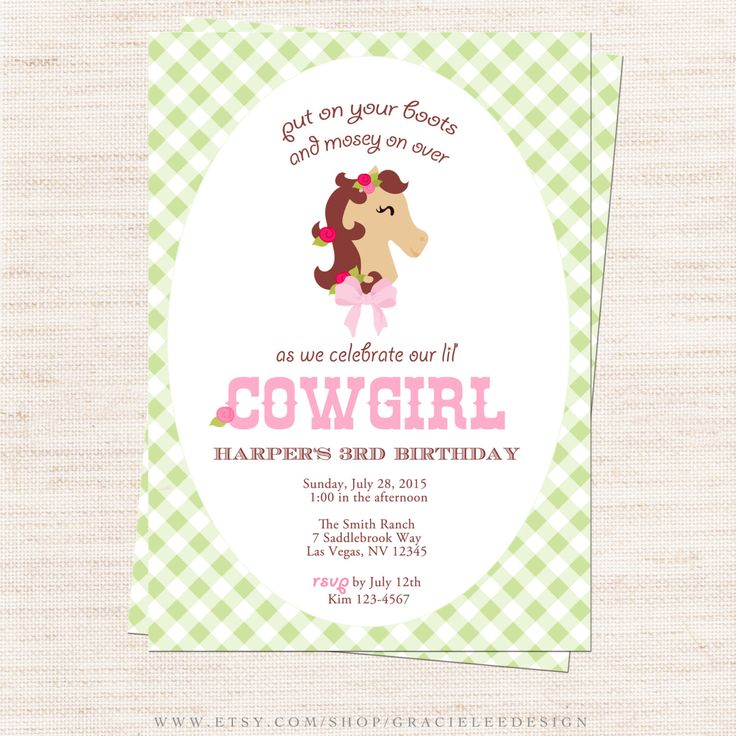 90 best Pony Party images on Pinterest | Cowgirl party, Horses and ...
