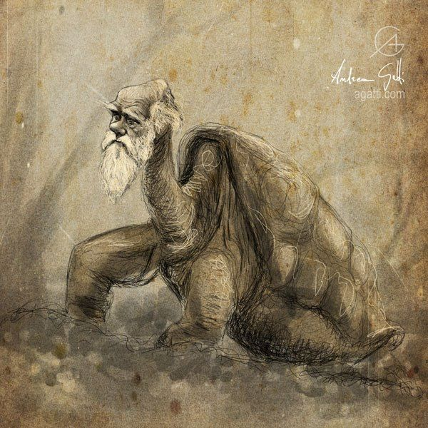 Andrea Gatti - #DarwinDay - illustration - Masonry / Massoneria Creativa - www.massoneriacreativa.com
