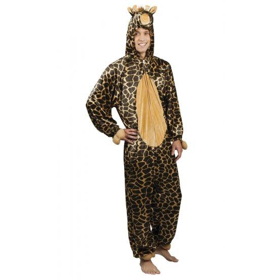 Giraffe onesie dierenpak 195 cm  Dit giraffe dierenkostuum is gemaakt van 100% polyester. De pluche onesie is van schouder tot enkel is deze 1.95 meter geschikt voor maat M tot XL. De capuchon met gezicht zit aan het pak vast.  EUR 39.95  Meer informatie