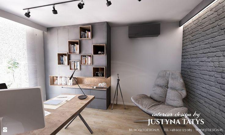 Industrialne klimaty - zdjęcie od JT DESIGN Justyna Tatys - Biuro - Styl Industrialny - JT DESIGN Justyna Tatys