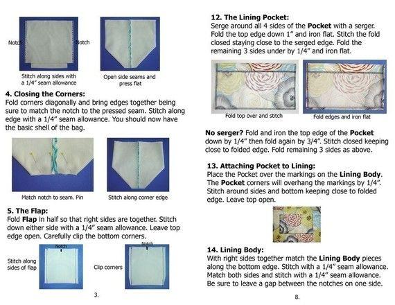 Purse Sewing Pattern Sling Bag Pattern PDF diy by CutAndTapeGirl