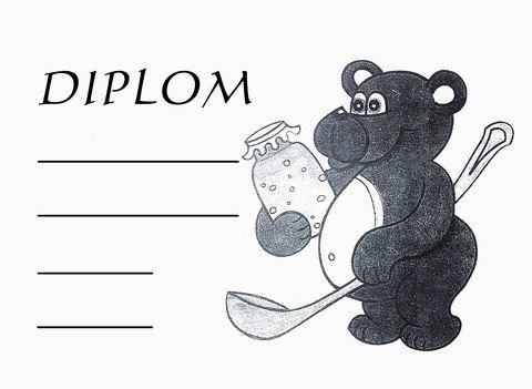 Diplom - medvídek