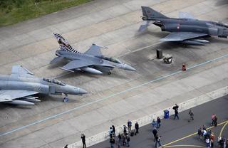 De F-16 straaljagers op de luchtmachtdagen 2010