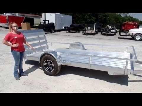 5'x12' All Aluminum Utility Trailer 3500 lb Axle Review - http://sleequipment.com/news/5x12-all-aluminum-utility-trailer-3500-lb-axle-review/