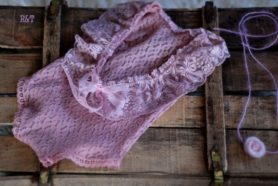 RTS .baby rompe con flores recién nacido cordón encaje por anilita