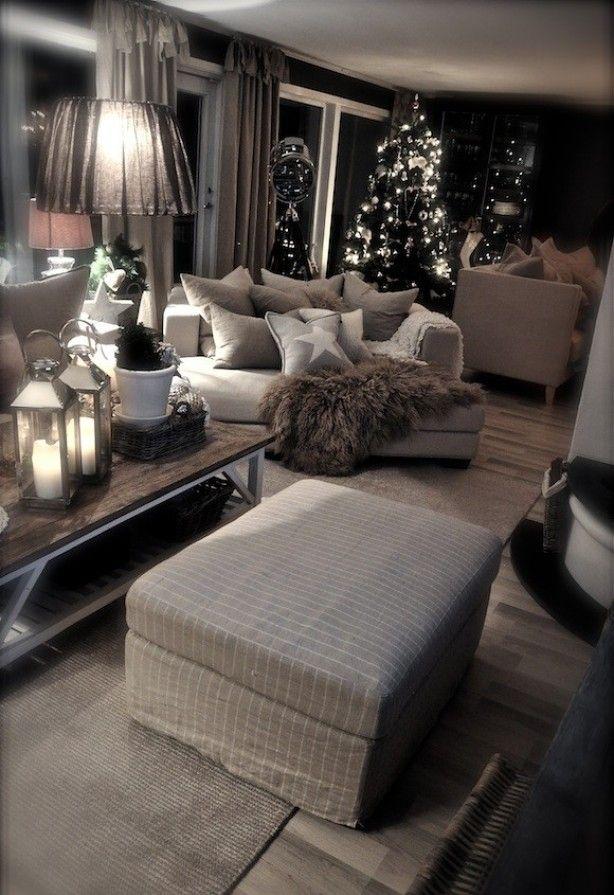 kerstsfeer in een landelijk interieur