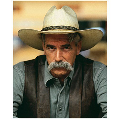 The Big Lebowski with Sam Elliot Close Up Wearing Cowby H...