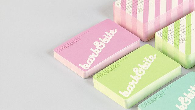 Business cards - remind me of candy.
