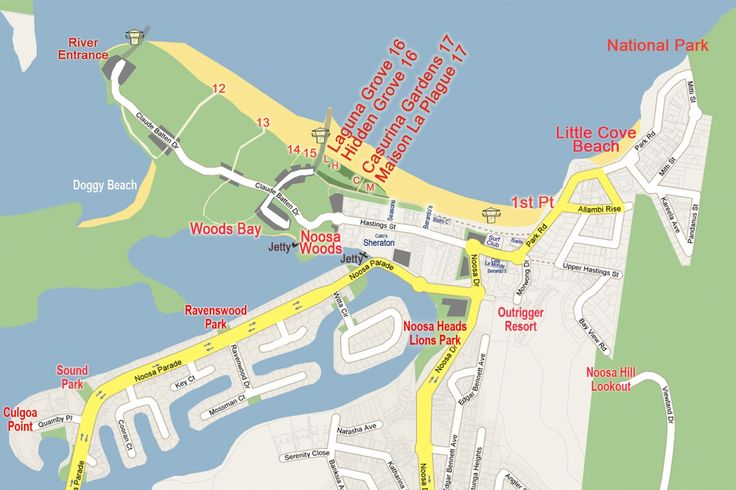 Noosa Heads Wedding Locations Map