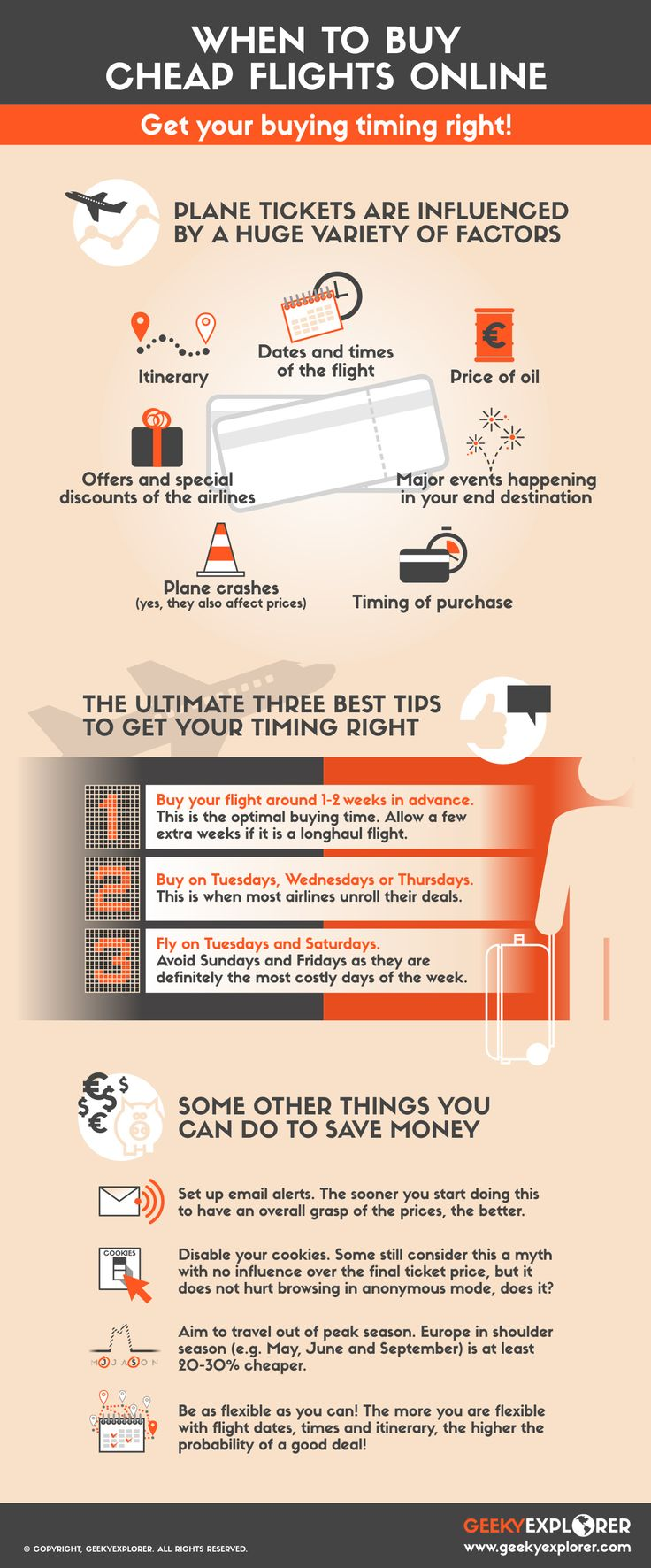 The ultimate tips to save money when buying flights online!