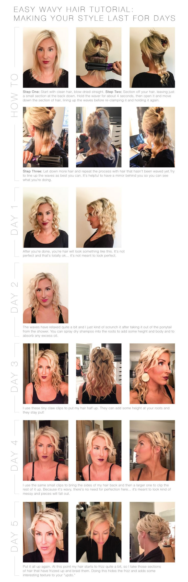 Best 25 wavy hair tutorials ideas on pinterest wavy beach hair easy wavy hair tutorial how to make your hairstyle last for days urmus Gallery