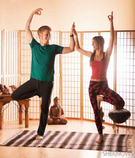 Beginning partner yoga