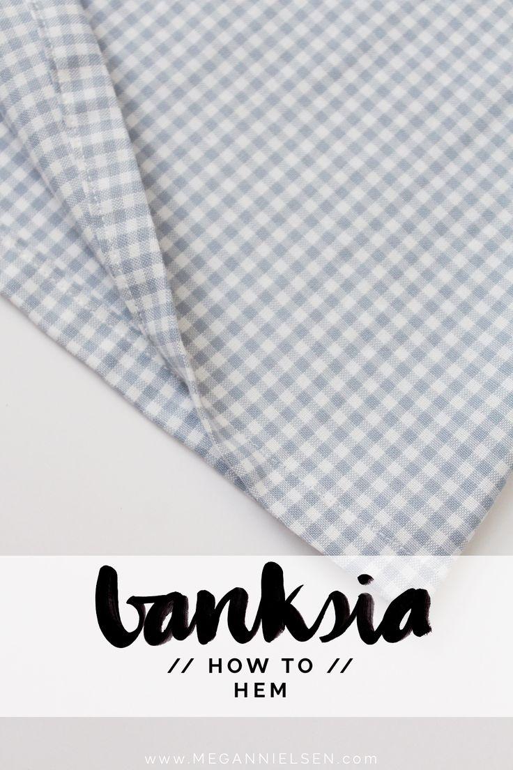how to finish the hem on the Banksia Blouse // tutorial on Megan Nielsen Design Diary