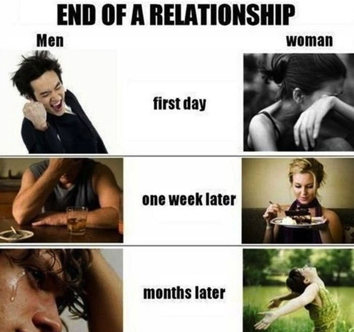 stages of a break up for the dumper in relationship