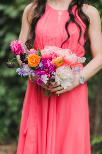 bright and poppy bouquet