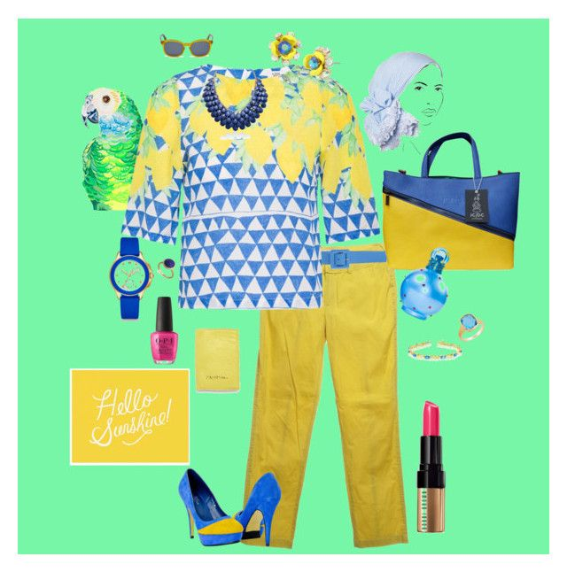 Island Sunshine by vrowe on Polyvore featuring Dina Khalifé, Strenesse Blue, JC de Castelbajac, Marco Bicego, Effy Jewelry, Amanda Rose Collection, Michele, Betsey Johnson, Adoriana and Diesel
